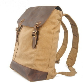 Leather and canvas Utility Warrior backpack | laptop daypack unisex | personalized canvas messenger bags and backpack | Scoop.it