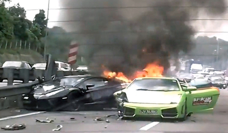 Charity supercar run results in 3 Lamborghinis going up in flames | Motorsport, sports automobiles, Formula 1 & belles voitures | Scoop.it