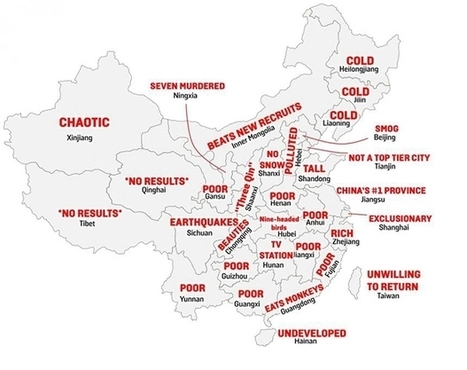 A Map of China, By Stereotype   China map   Scoop.it