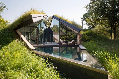 Incroyable maison contemporaine avec toiture végétalisée Edgeland ...