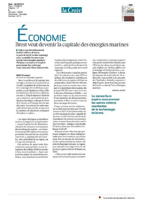Brest veut devenir la capitale des énergies marines, j'y crois ;-) | Projets de territoire porteurs d'avenir | Scoop.it