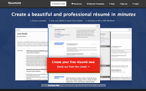 8 Online Tools To Create A Professional, Slick Resume | Resume (CV) Tips | Scoop.it