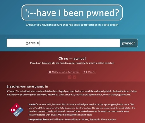 Vos données piratées ? Vérifiez-le avec ce site | Informatique TPE | Scoop.it