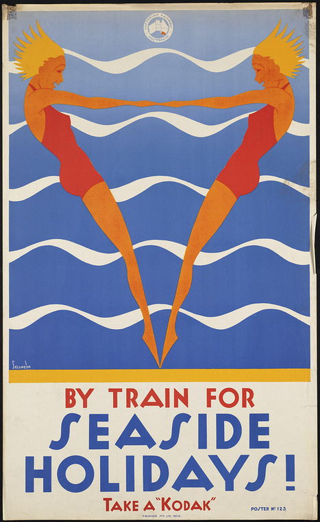 Vintage Posters from the Golden Age of Travel, 1910-1959 | Vintage, Robots, Photos, Pub, Années 50 | Scoop.it