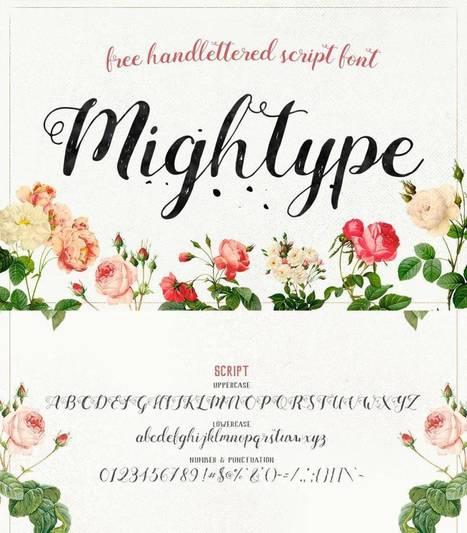 5 typos qui imitent l'écriture manuscrite – Les Outils Tice | dilipem2012 | Scoop.it