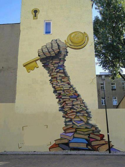 25 amazing street art and mural works about books, libraries and reading | Litteris | Scoop.it