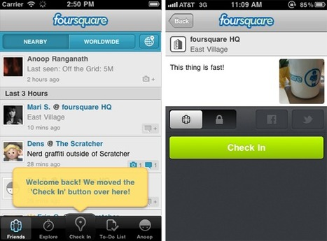 Faster check-ins on iPhone. Much, much faster.   Foursquare Blog   Apple Rocks!   Scoop.it