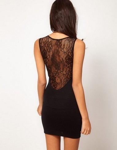 Deep V Neck And Sexy Lace Back Slim Black Sleeveless Fashion Prom Dresses | ESCORTS UK - RED HOT JANE IN KENT | Scoop.it