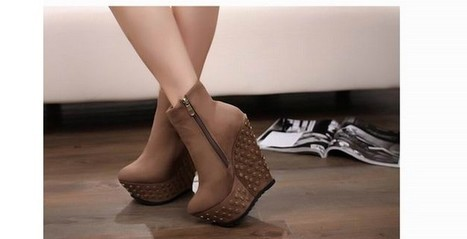 Wholesale Fashion wedges rivets decoration sexy shoes XD-KN1196-1 khaki - Lovely Fashion | Chic summer streetstyle(sandals) | Scoop.it