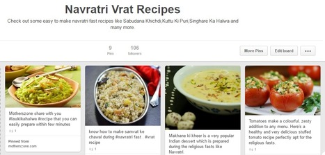 Easy To Make Recipes for Navratri Fasting | Motherhood | Scoop.it