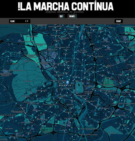 La marcha continua | Los mapas del #15M | Scoop.it