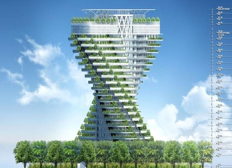 Agora Tower, Taipei: A Twisting Skyscraper Wrapped With Vertical Gardens | Sustain Our Earth | Scoop.it