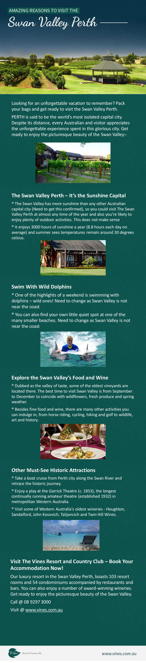 Amazing Reasons to Visit the Swan Valley Perth | Infographic Collection | Scoop.it