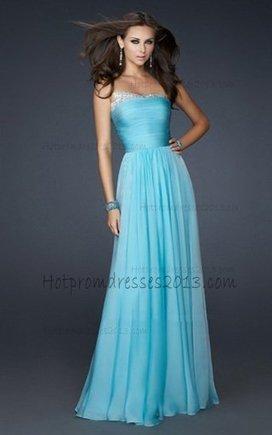 Aqua Elegant Strapless Chiffon Prom Dressess Style 2013 [Prom Dresses Aqua] - $170.00 : Discount Dresses for Prom 2013,Up 50% Off   fashion   Scoop.it