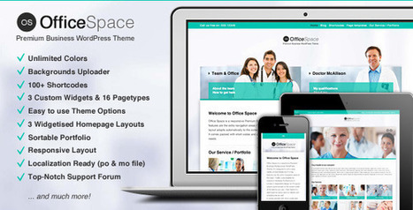 Office Space: Responsive Business WordPress Theme   Medical wordpress themes   Scoop.it
