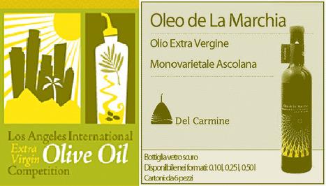 Oleo de la Marchia Takes Marco Mugelli Prize at L.A.   Le Marche and Food   Scoop.it