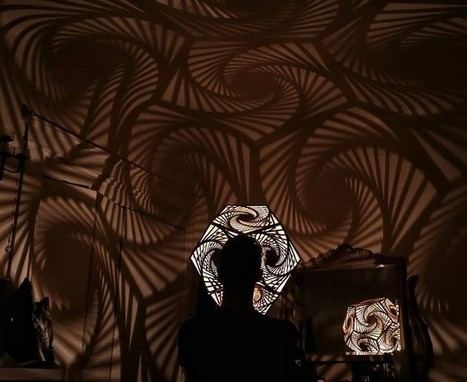Mind-Blowing, #Laser Cut, #Mathematical #Art #Lights Up the World. #shadows #patterns | Luby Art | Scoop.it