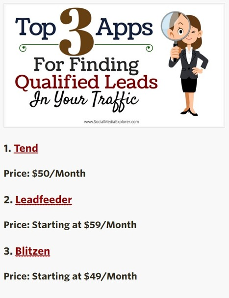 Top 3 Apps for Finding Qualified Leads in Your Traffic - Social Media Explorer | AtDotCom Social media | Scoop.it