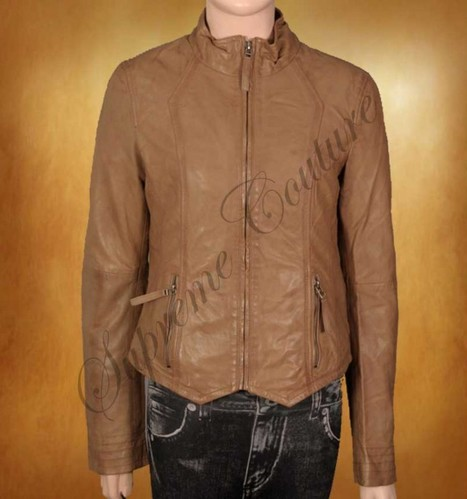 Attire of Virtuous Natural Stone Jacket accessible in western leather design | WOMEN JACKETS | Scoop.it