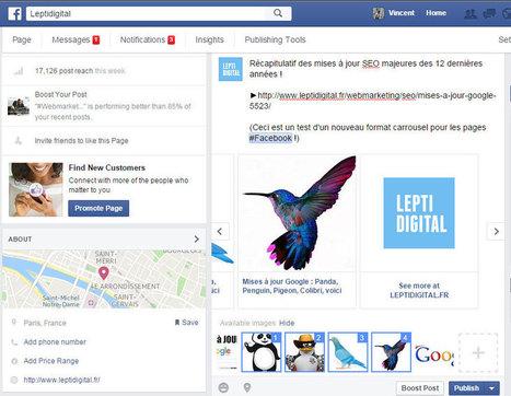 Comment créer une publication carrousel Facebook sans payer ? | CommunityManagementActus | Scoop.it