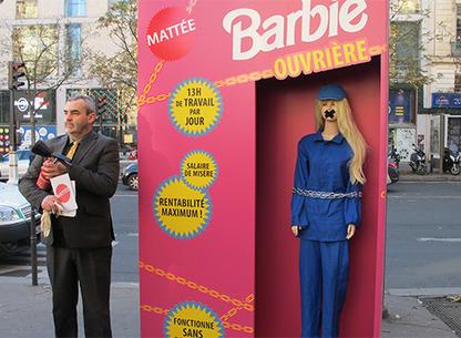 Barbie n'est pas si jolie   Barbie ouvrière : campagne Peuples Solidaires Vs Mattel   Scoop.it