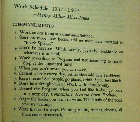 Writing Rules by Henry Miller, Elmore Leonard, Margaret Atwood, Neil Gaiman & George Orwell | The World of Open | Scoop.it