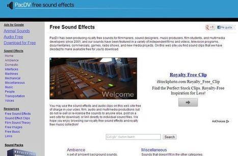 PacDV, una gran colección de sonidos y efectos sonoros gratis para tus proyectos | Herramientas, aplicaciones | Scoop.it