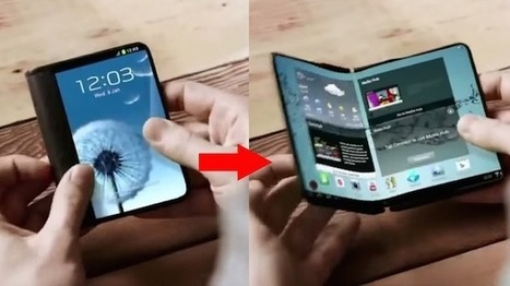 Samsung May Be Launching A Smartphone With A Big Screen That Folds In Half - DesignTAXI.com | Future of Cloud Computing and IoT | Scoop.it