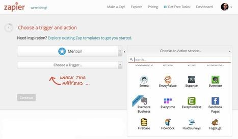 Mention, les Google Alertes sous stéroïdes, se lie avec 250 applications via Zapier | Web automation | Scoop.it