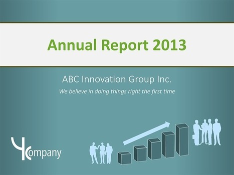 Annual Report - PowerPoint Template | Editable & Ready-to-use PPT slides (information, maps, graphs, data) | Scoop.it