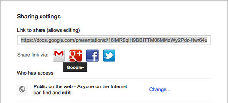 Google Drive now offers easy sharing and embedding to popular social networks | Educatief Internet | Scoop.it