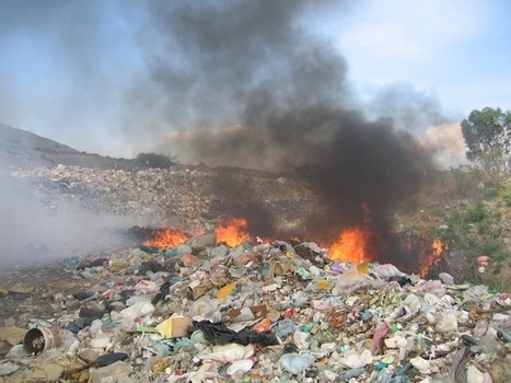 "For Air Pollution, Trash Is a Burning Problem | Climate Central (""double whammy to environment"") 
