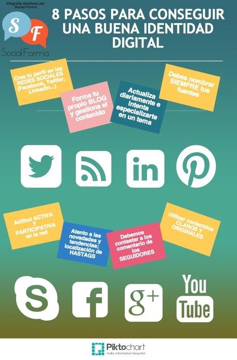 8 pasos para conseguir una buena Identidad Digital #infografia #infographic #socialmedia | Educacion, ecologia y TIC | Scoop.it