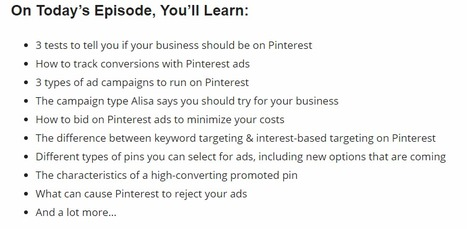 #112: How to Create High Converting Pinterest Ads with Alisa Meredith | RickMulready.com | Pinterest for Business | Scoop.it