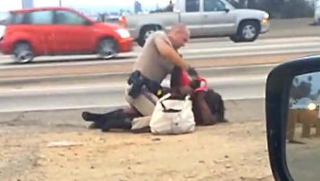 VIDEO: California Highway Patrol officer caught on tape beating a woman | Criminal Defense | Scoop.it