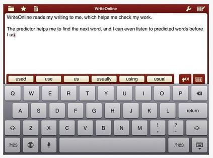 WriteOnline App | OT's with Apps | Occupational Therapy Assistive Technology | Scoop.it