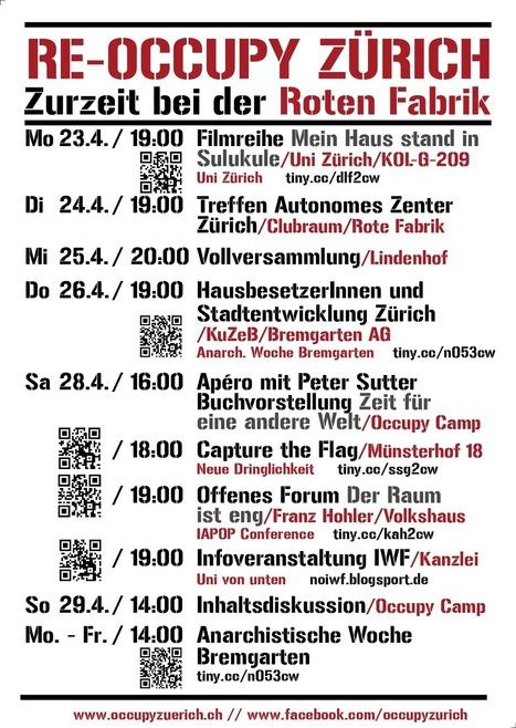 Wochenprogramm Woche 6 | Occupy Zürich | Occupy Zürich | Scoop.it