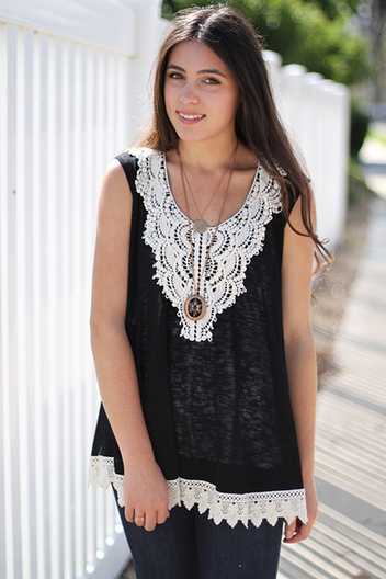 crochet slub tank | Online shopping store | Scoop.it