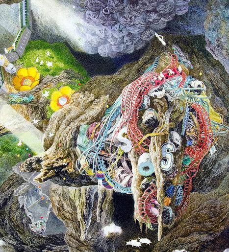Μνημειώδες ζωγραφικό έργο από μελάνι!   something to look out for   Scoop.it