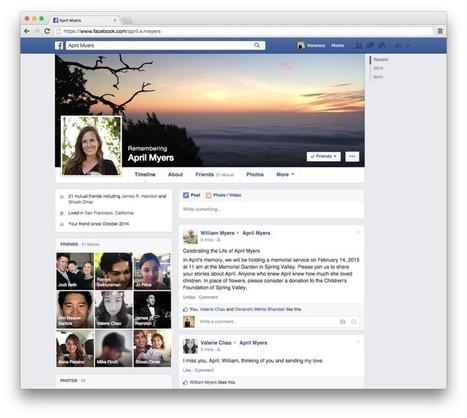 En cas de décès, un «légataire» pourra gérer votre compte Facebook | Social Media - ES | Scoop.it