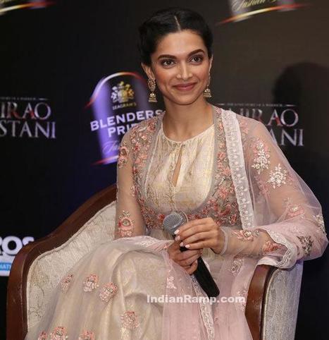 Deepika Padukonde in Churidar promoting Deewani Mastaani song from Bajirao Mastani movie, Actress, Bollywood, Indian Fashion | Indian Fashion Updates | Scoop.it