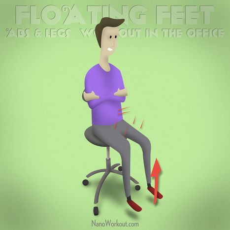 Floating Feet - Abs and legs workout in the office | Santé au Vietnam - Health in Vietnam | Scoop.it