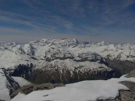 Vue sur le massif du Perdido depuis le Soum des Tours le 27 avril 2016 - Simon d'Etache | Vallée d'Aure - Pyrénées | Scoop.it