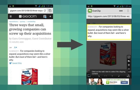 Save Web Content Instead URLs to Evernote With EverClip | Personal Technology | Scoop.it