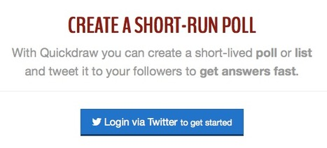 Create short-run polls and lists | Quickdraw | ICT tools | Scoop.it