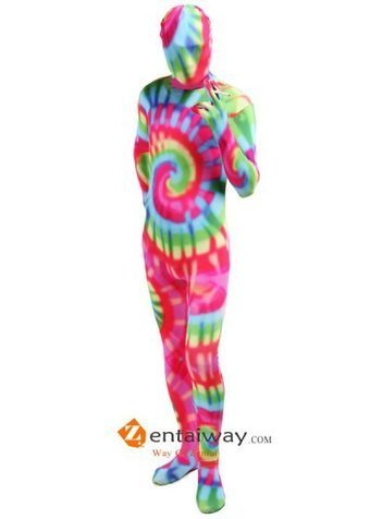 Colorful Spandex Zentai Full Bodysuit [2013228] - $59.00 : zentaiway.com | Awesome print zentai | Scoop.it