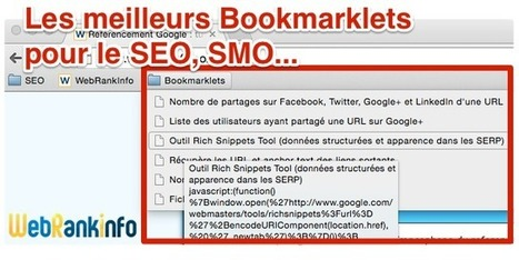 Les meilleurs bookmarklets pour le référencement | Les Outils du Community Management | Scoop.it