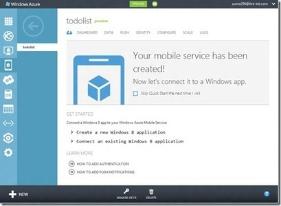 Microsoft Launches Windows Azure Mobile Services: A Cloud Backend For Windows 8 And Mobile Apps | Microsoft | Scoop.it