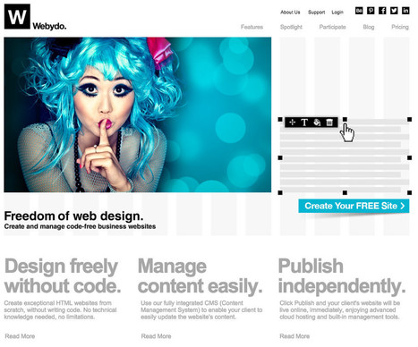 Create a Responsive Site Without a Single Line of Code Using Webydo   Web & Mobile Tech - Resources & News   Scoop.it