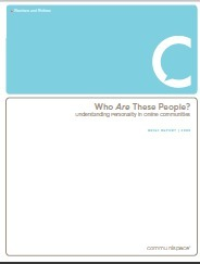 White Paper - Understanding Personality in Online Communities and Social Media | The 21st Century | Scoop.it